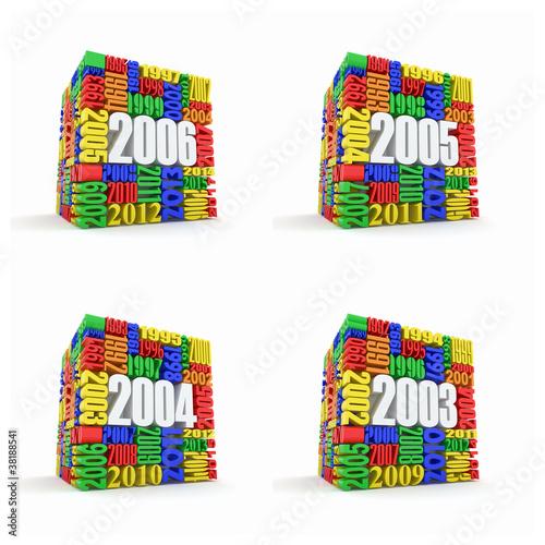 Tela  New year 2006, 2005, 2004, 2003.