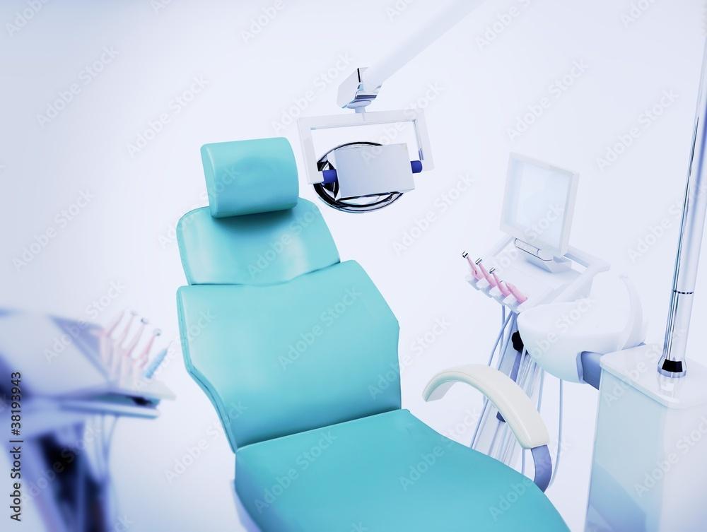 Horror studio sedia poltrona dentista illustrazione d foto