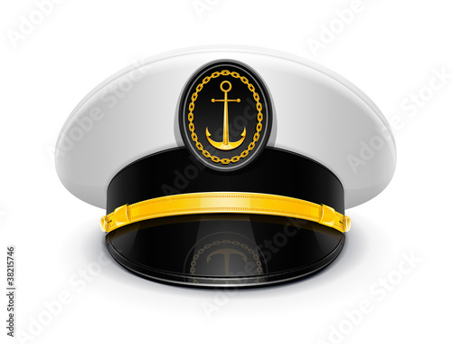 captain peaked cap with cockade vector illustration isolated Tapéta, Fotótapéta