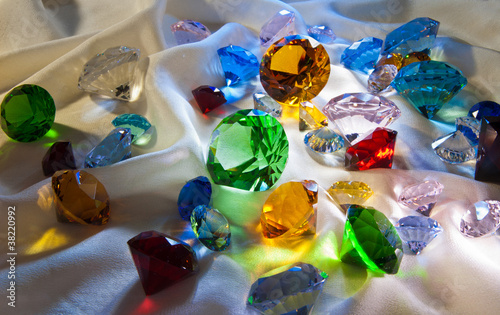 Collection of glass gems Canvas Print