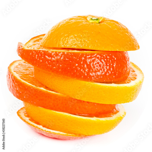 Staande foto Plakjes fruit Orange