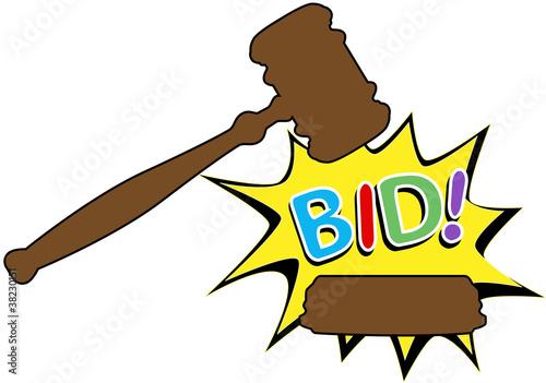 Bid To Buy >> Bid To Buy Auction Gavel Cartoon Icon Buy This Stock Vector And
