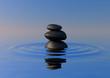 Zen rocks on water