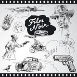 film noir - hand drawn collection