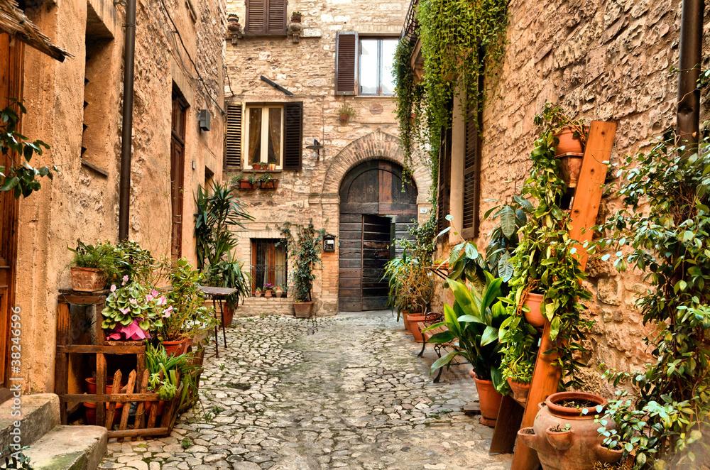 Fototapety, obrazy: Piękny zakątek Spello, Włochy