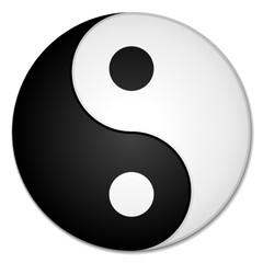 Panel Szklany Czarno-Biały Yin & Yang