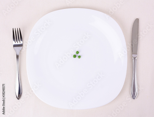 Photo  Small portion of food on a big plate