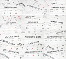 Spanish Months Calendar