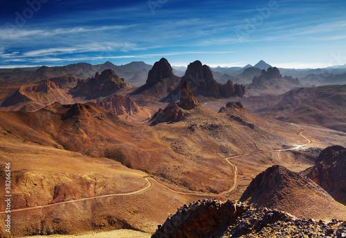 Sahara Desert, Hoggar mountains, Algeria Canvas Print