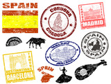 Stamps with Spain