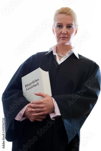 Anwältin mit Gesetzbuch Canvas-taulu