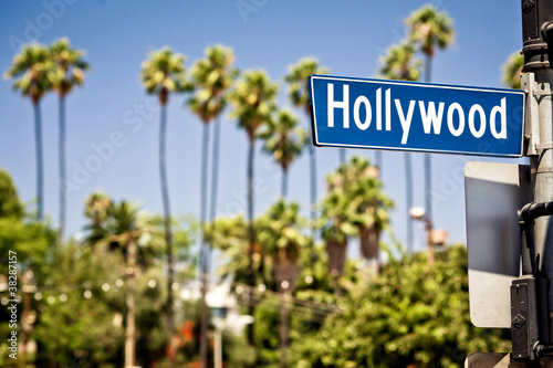 Tablou Canvas Hollywood sign in LA