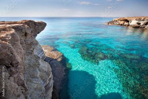 Spoed Foto op Canvas Cyprus Cyprus sea caves