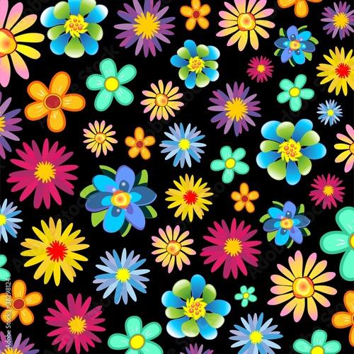 Primavera Fiori Sfondo Springtime Flowers Background Vector Buy