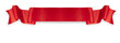 canvas print picture - Elegance red ribbon banner