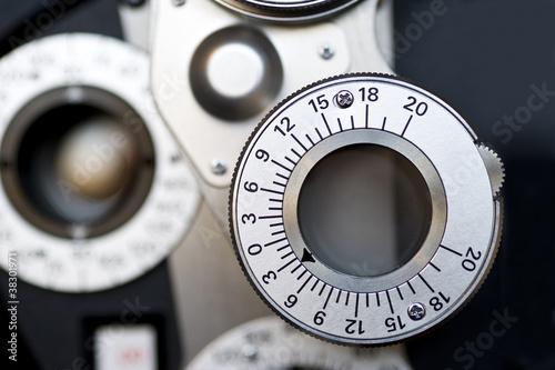Fotografía  Detail of Optometrist diopter.