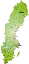 Übersichtskarte Von Schweden / Sverige