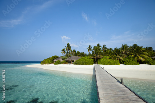 Foto Rollo Basic - pontoon to paradise beach