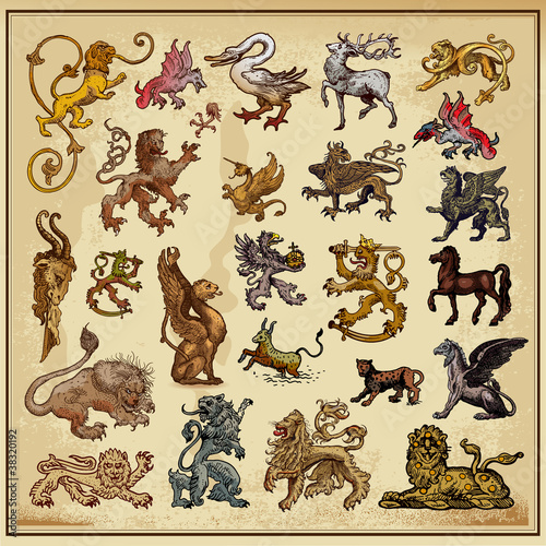 Photo  heraldic beast collection