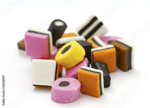 Selection of liquorice allsorts Canvas Print