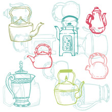 Beautiful Background Of Teapot...