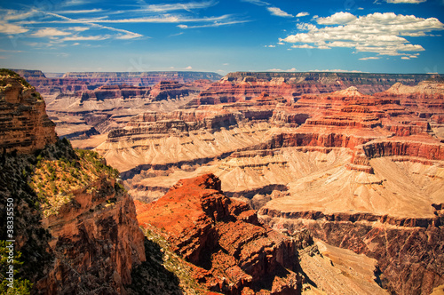 Staande foto Canyon Grand Canyon sunny day with blue sky