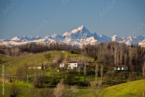 Alpi dalla provincia di Alessandria Canvas Print