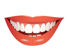 Smiling Mouth Isolated Photo-r...