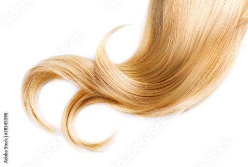 Obraz Healthy Blond Hair Isolated On White - fototapety do salonu