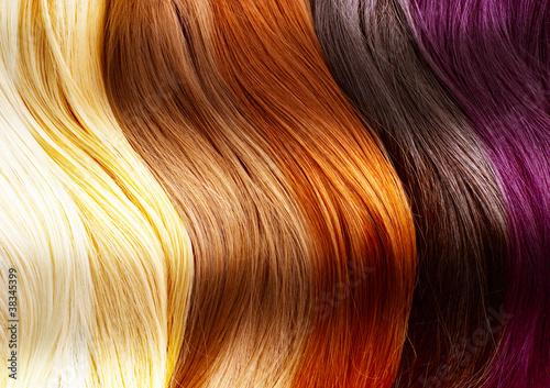 Plissee mit Motiv - Hair Colors Palette