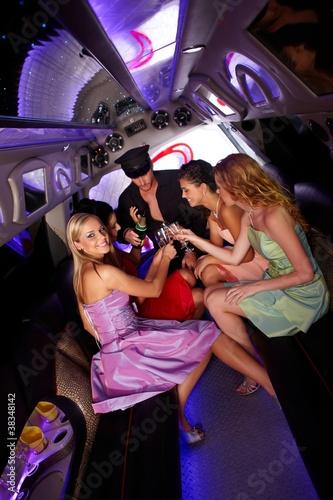 Fotografía Party time in limousine