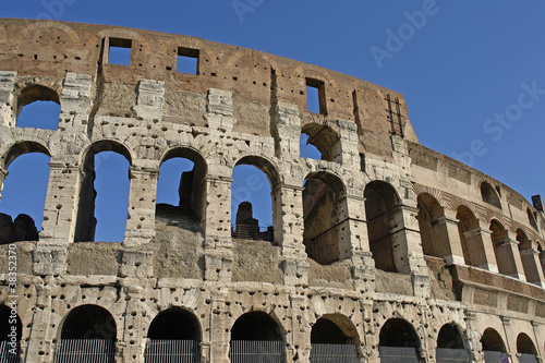 Ruins of great stadium Colosseum, Rome, Italy Canvas Print