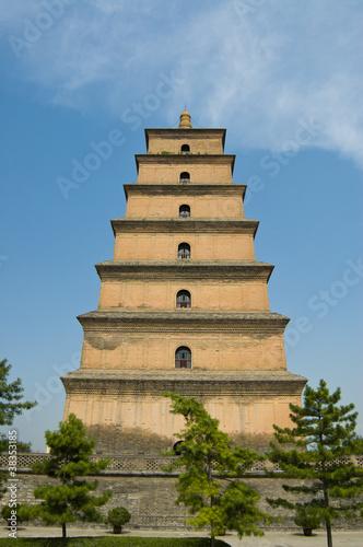 Fotobehang Xian Giant Wild Goose Pagoda