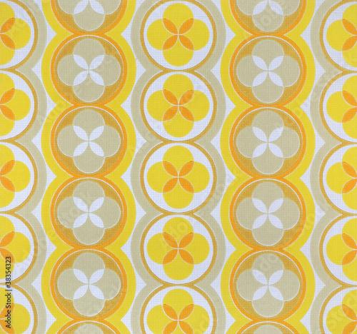 Motiv-Klemmrollo - Original Sechziger Jahre Siebdruck Struktur-Tapetenmuster (von Petair)