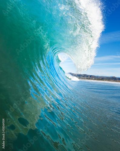 Stickers pour porte Eau Blue Ocean Wave