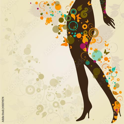 Fototapety, obrazy: Woman`s slim legs