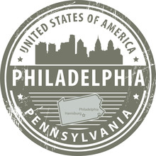 Stamp With Name Of Pennsylvani...
