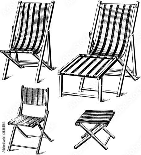 Fototapeta chaise longue