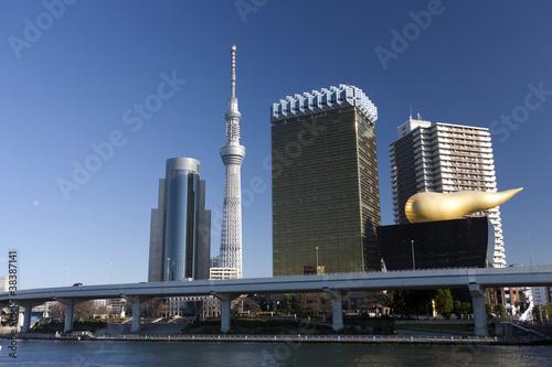 Staande foto Tokyo 東京スカイツリーとリバーピア吾妻橋