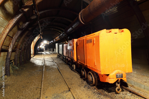Foto op Aluminium Rudnes Mine with wagons