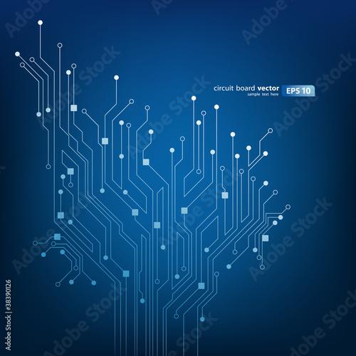 Fotografie, Obraz  Modern circuit board vector illustration
