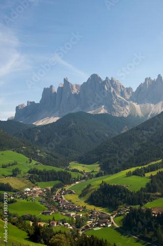 Photo  Geislergruppe - Villnößtal - Dolomiten - Alpen