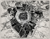 Historical map of Wien, Austria. - 38396127