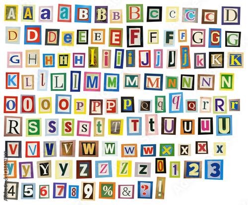 Poster Kranten Newspaper alphabet