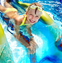 Child On Water Slide At Aquapa...