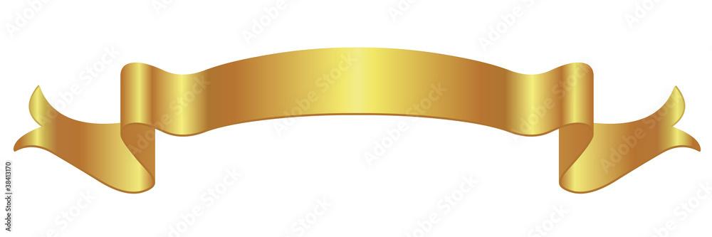 Fototapety, obrazy: Bannière en or