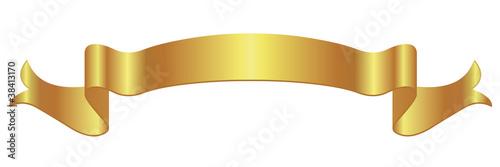 Obraz Bannière en or - fototapety do salonu