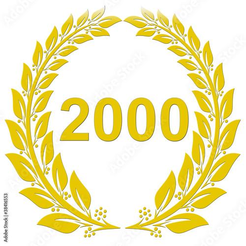 Poster  Lorbeerkranz Gold - 2000