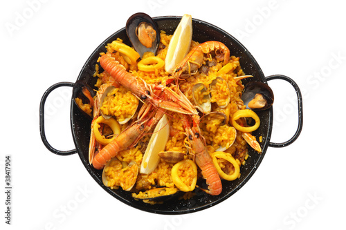 Poster Coquillage Isolated paella