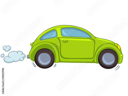 Staande foto Cartoon cars Cartoon Car